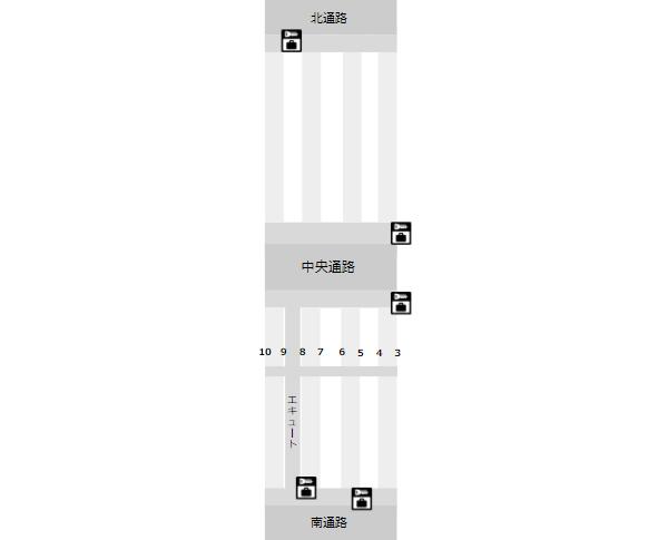 JR横浜駅構内図(改札内ロッカー場所)