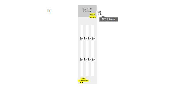 相鉄線横浜駅(ATMの位置-1F)
