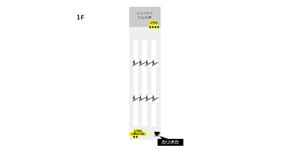 相鉄線横浜駅構内図(カフェの位置-1F)