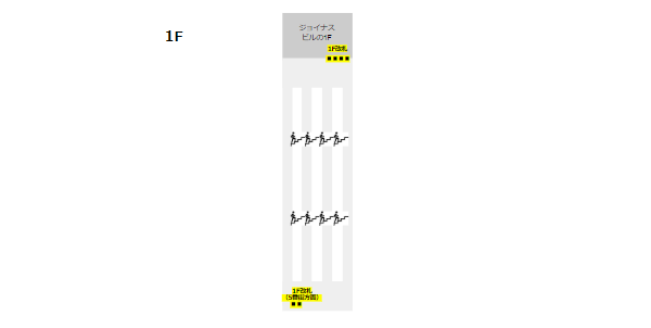 相鉄線横浜駅構内図(改札の位置-1F)