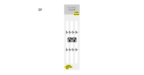相鉄線横浜駅構内図(ロッカーの位置-1F)