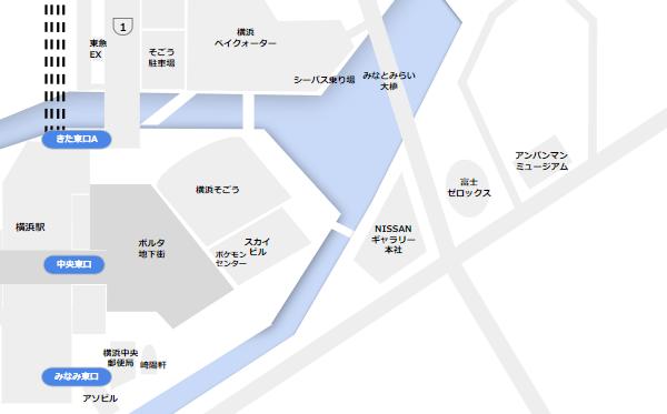 横浜駅中央東口周辺施設