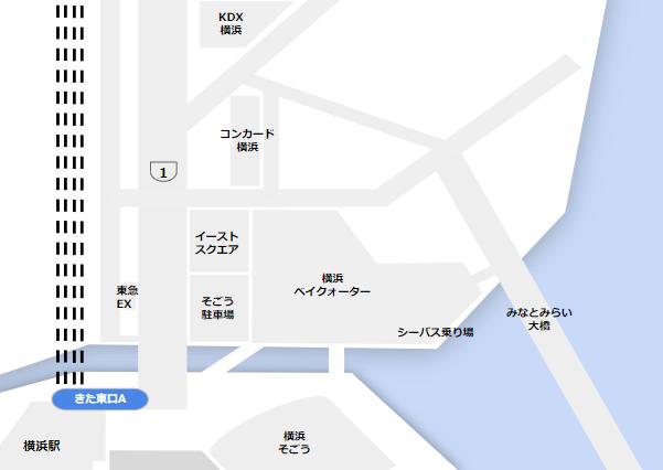 横浜駅きた東口A周辺マップ