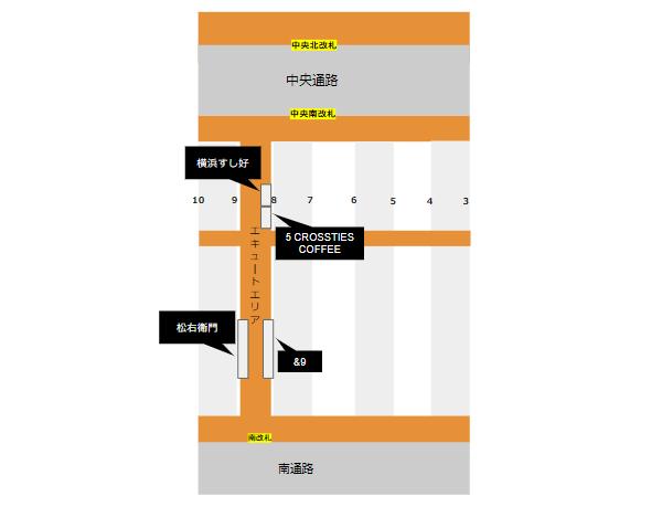 横浜駅ナカecuteのお店
