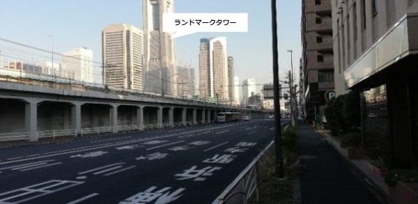 高島町駅からランドマークタワーへ向かう